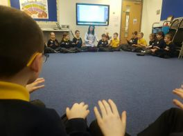 P5A First music session with Mrs Armstrong