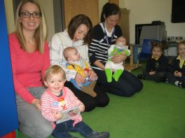 Mother and Baby visits Nursery