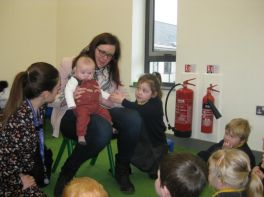 Baby Alexander came to visit Nursery 1