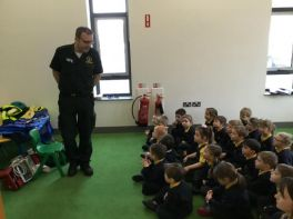 Paramedic came to visit Nursery today