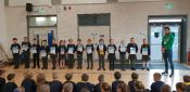 Year 6 presentation of cycle training certificates
