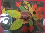 Nursery make \'temporary picture\' using autumn items.