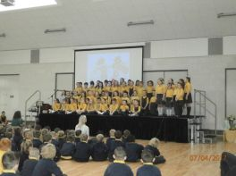 5B- Choir Perform at Easter Assembly