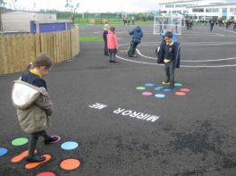 Enjoying Indoor and Outdoor play in Year 2